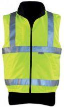 Gilet polaire Hiway réversible haute visibilité - jaune/noir