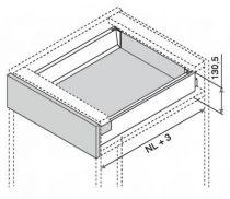 Kit antaro BLUMOTION - hauteur K : 130,5 mm - gris