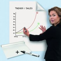 Rouleau feuilles blanches effacables - Magic-Chart