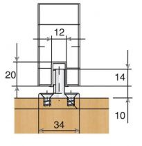 Ferrure de porte coulissante bois hawa Junior - 40 kg