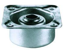 Pieds de meuble ø 28 mm métal avec vérin et embase démontable - embout pied 48 mm