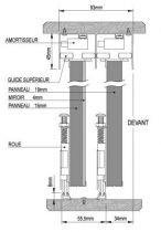 Profil porte coulissante bois - Prolux