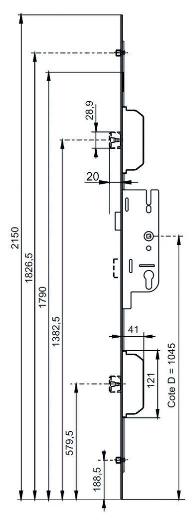 Fermeture latérale Europa S2 - MR2 - MR/R