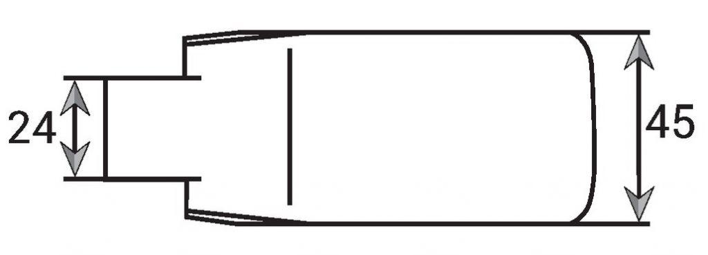 Paumelle la paire - Pour feuillure de 35 mm - cote D = 33 mm et pour feuillure de 45 mm - cote D = 41 mm