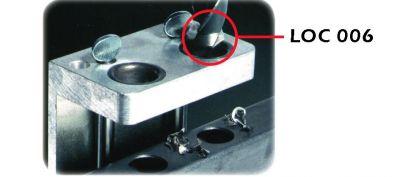 Foret pour calibre, gâche, butée et plaque intermédiaire pour LC et LAKQ