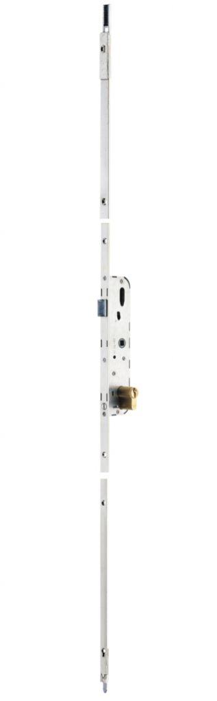 Crémone à cylindre de porte - fenêtre Vachette 2800 1 PH - Têtière 16 mm - coffre 198 x 44 x 13,5 mm