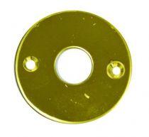 Rosace seule ronde - épaisseur 2 mm - ø 45 mm - laiton poli