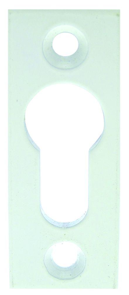 Rosace seule rectangulaire - pour cylindre européen - coins droits 67 x 25 mm