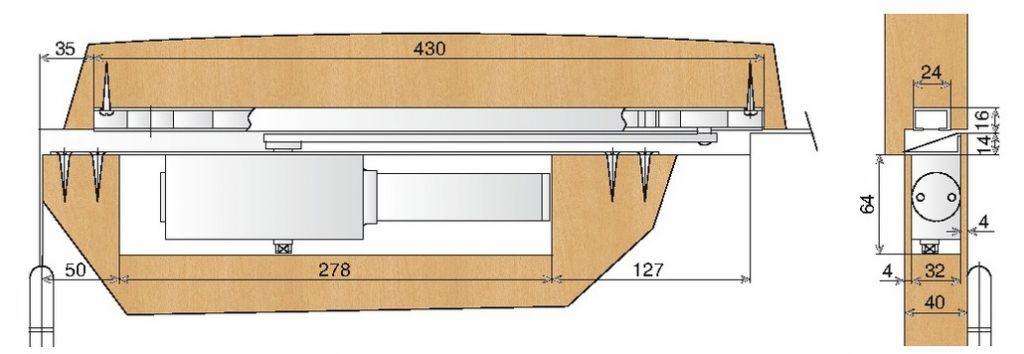 Ferme porte encastré MP 95 - Levasseur