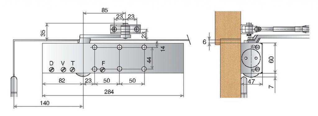 Ferme - porte IL 300 - Corps et bras standards