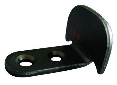 Battement pour espagnolette ING acier - coudé 2 trous