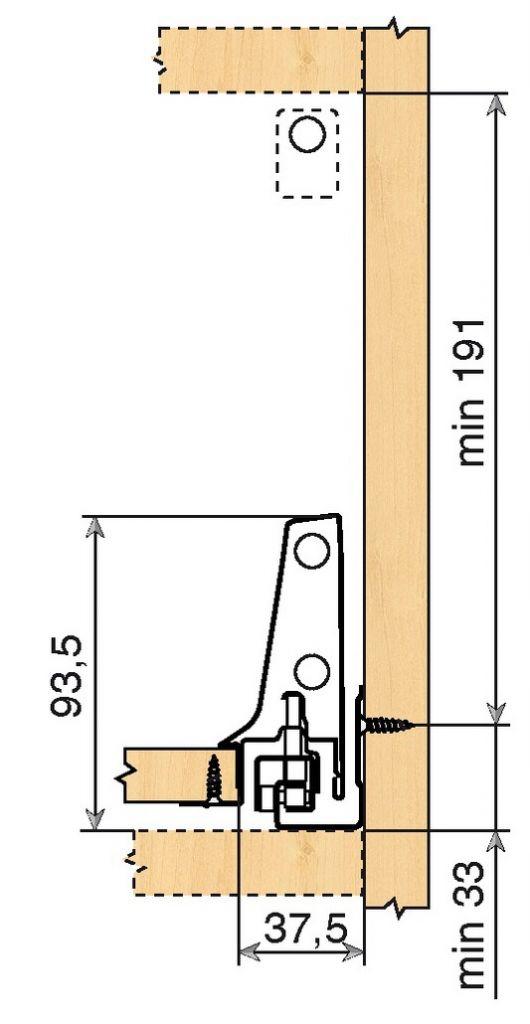 Tiroir antaro gris hauteur D