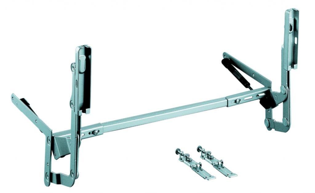 Ferrure lift avec vérins pour meuble de 450 à 600 mm