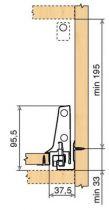 Tiroir antaro TIP-ON gris hauteur D
