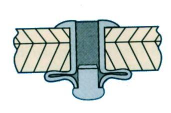 Rivet étoilé - tête plate - alu