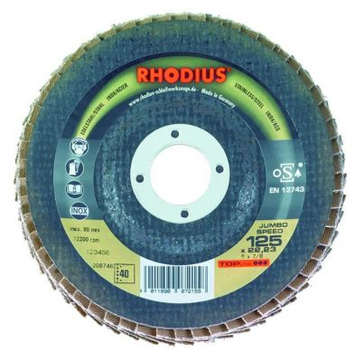Jumbo Speed - ø 125 x 22 mm - support fibre - boîte de 10 - prix au disque