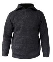 Pull col camionneur Enzo - anthracite