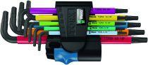 Jeu de 9 clés Torx® HF à tête sphérique - multi-couleurs