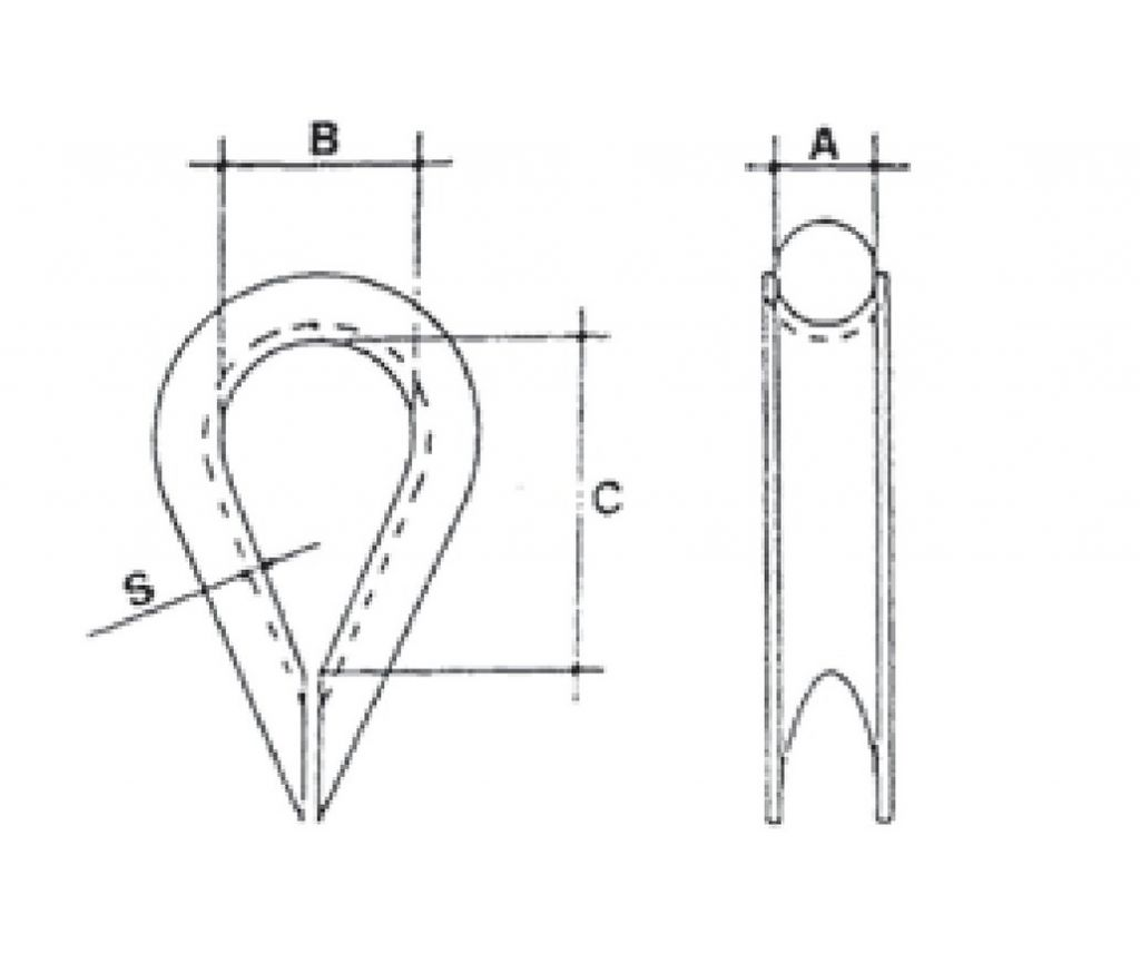 Cosse - coeur renforcée - DIN 6899 B