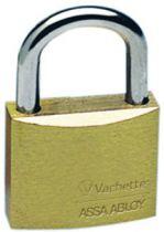 Cadenas à clés laiton massif - série Vachette - Anse acier nickelé cémenté - avec 2 clés