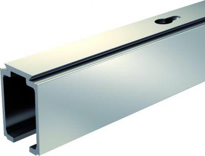 Ferrure de porte coulissante bois rail alu pour SAF 120 kg