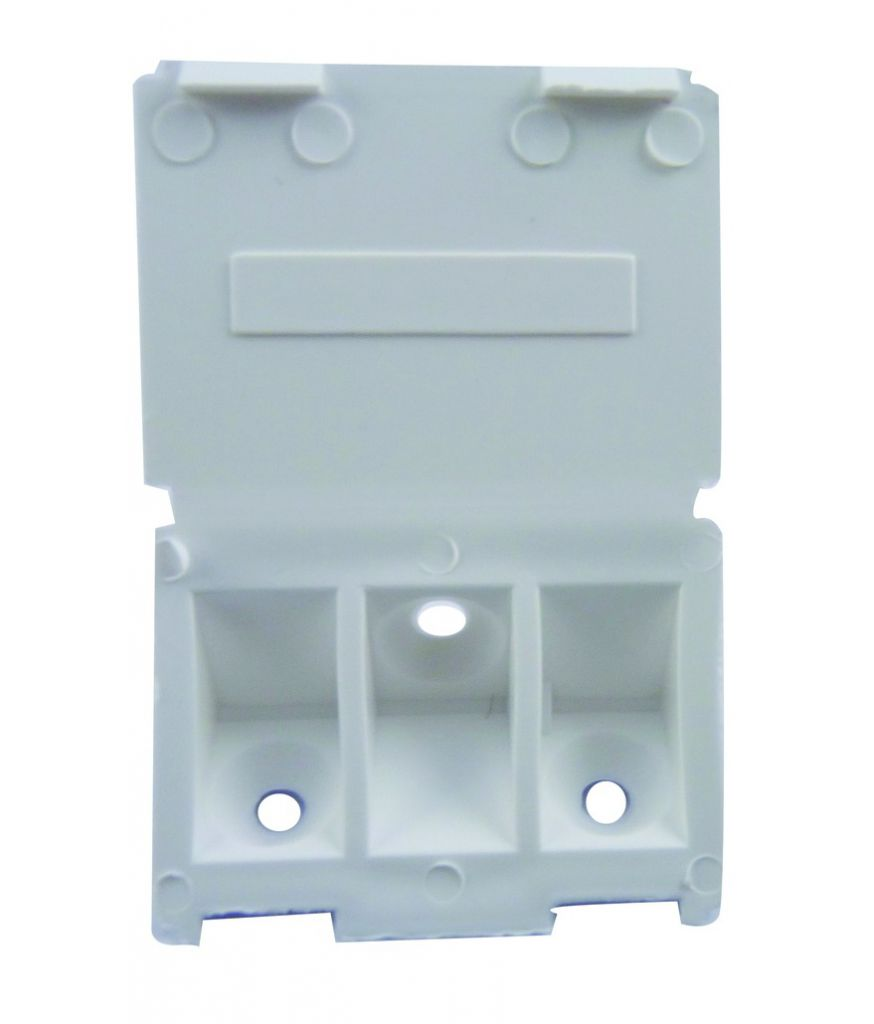 Taquet d'assemblage plastique en applique - livré avec couvercle