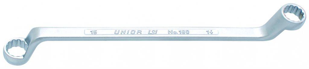 Clé polygonale Unior contre-coudée oeil 12 pans - série 180/1