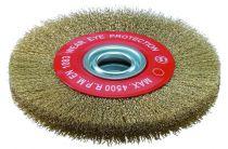 Brosse circulaire pour touret alésage ø 13 à 32 mm