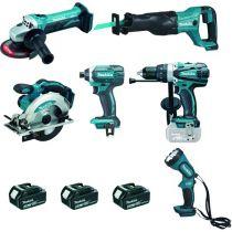 Kit 6 outils DLX 6045 M - 18 volts