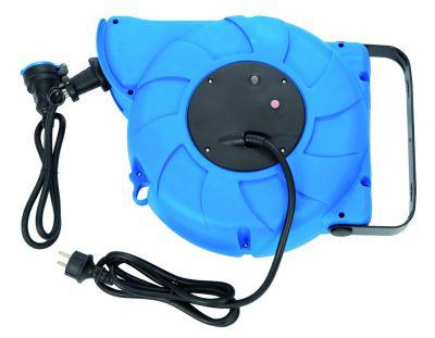 Enrouleur prolongateur câble HO7RN-F 3G1,5 - avec disjoncteur thermique à rappel automatique - utilisation en atelier