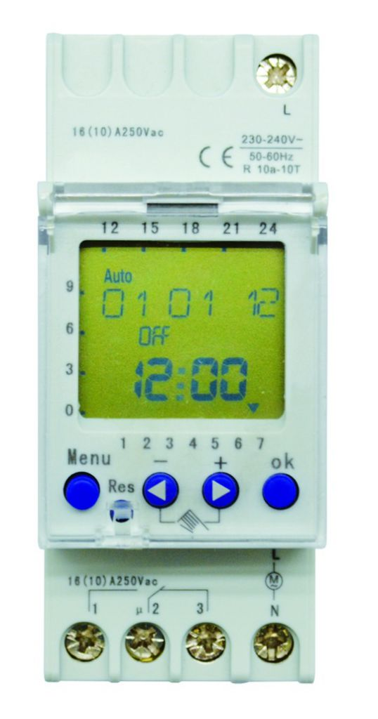 Horloge digitale hebdomadaire 230 V AC