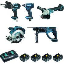 Kit 5 machines 18 volts - DLX5039PTJ - 5.0 A