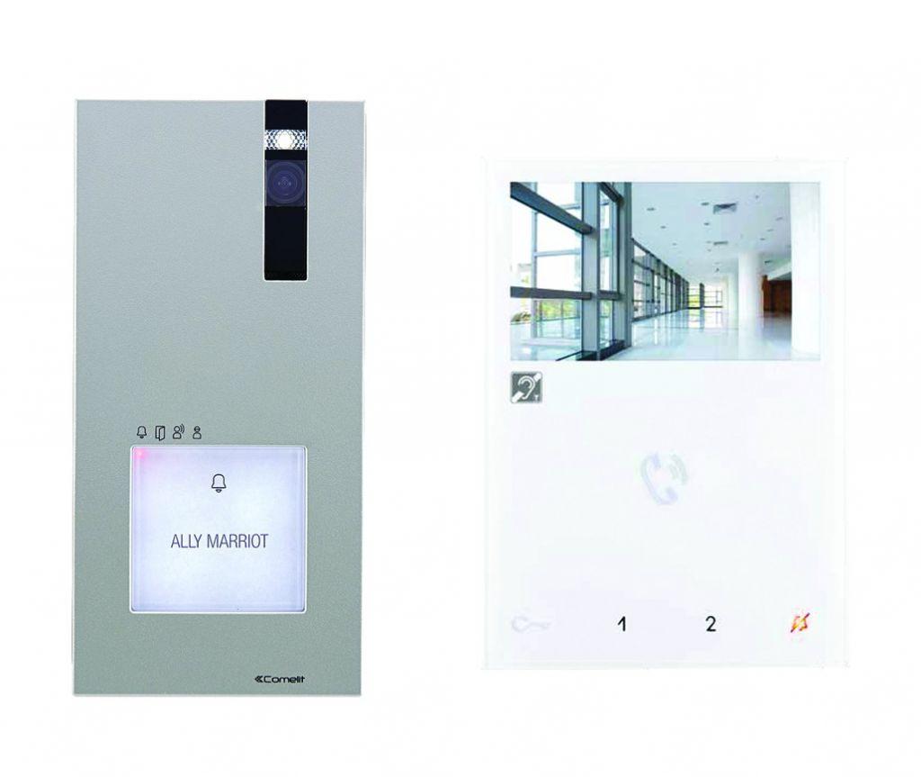 Kit vidéophone Quadra couleur main-libre 2 fils
