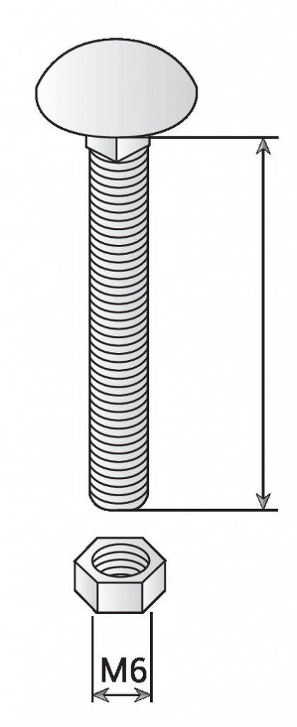 Visserie boulonnerie aluminium boulon tête ronde carré