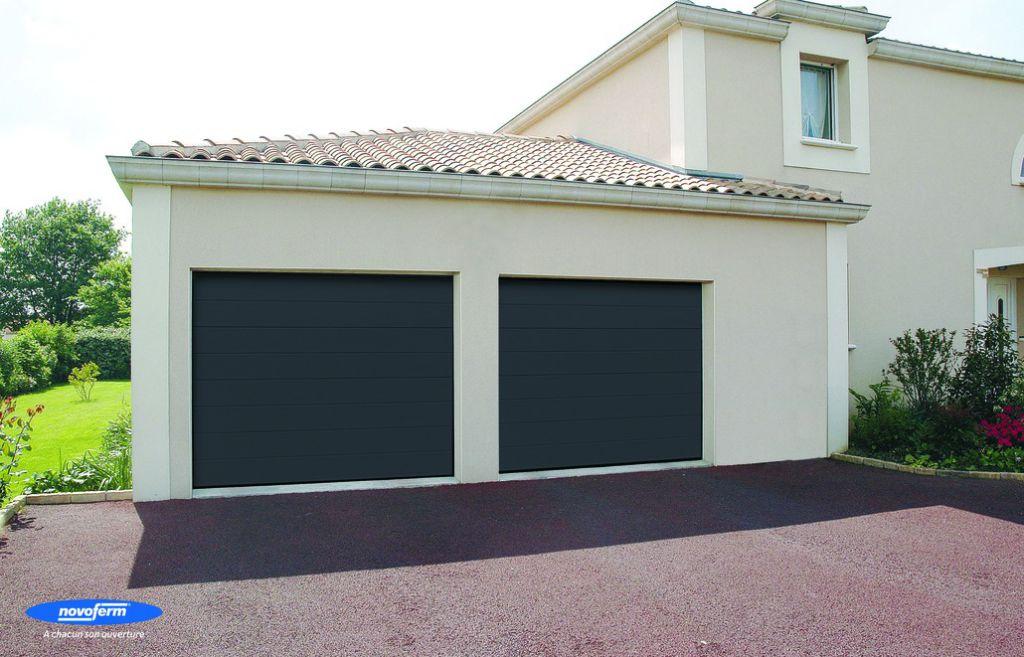 Iso 45 - Porte garage sectionnelle grande largeur ...
