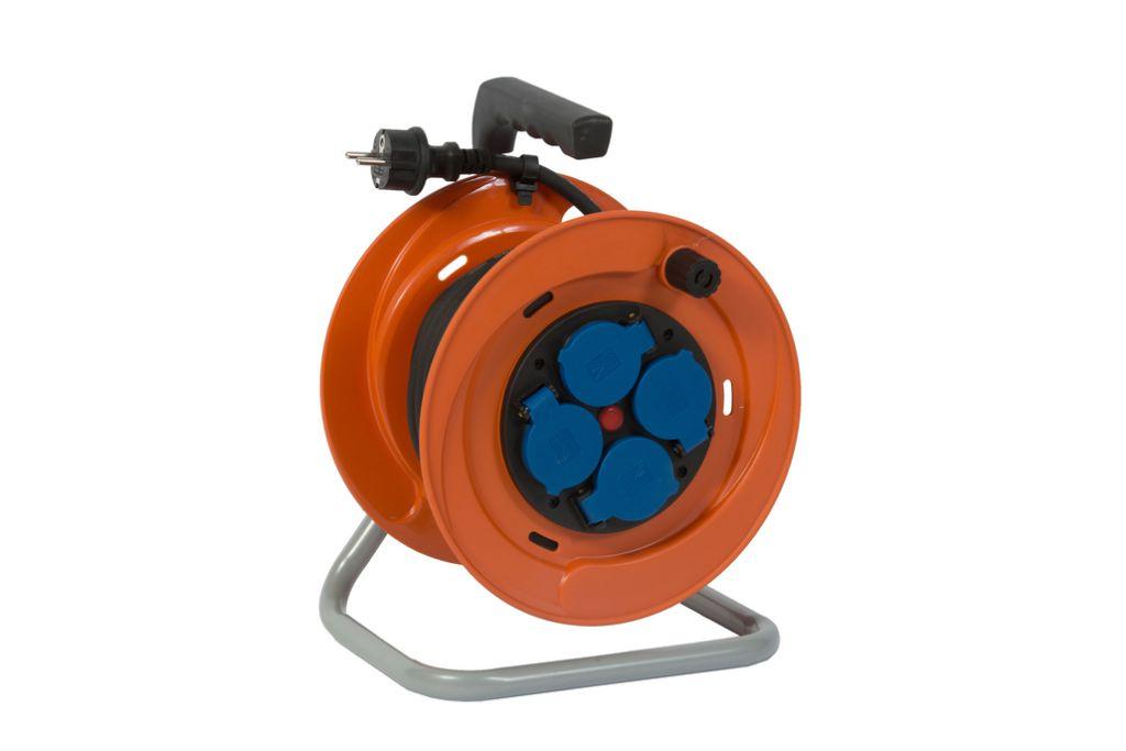 Enrouleur prolongateur série IB - câble HO7 RN-F avec disjoncteur thermique - utilisation en extérieur