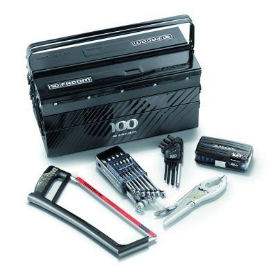 Composition boîte à outils 5 cases + outillage édition limitée 100 FACOM