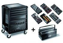 Servante ROLL 6 tiroirs + composition 7 modules édition limitée 100 ans FACOM ROLL.6M3CM100Y