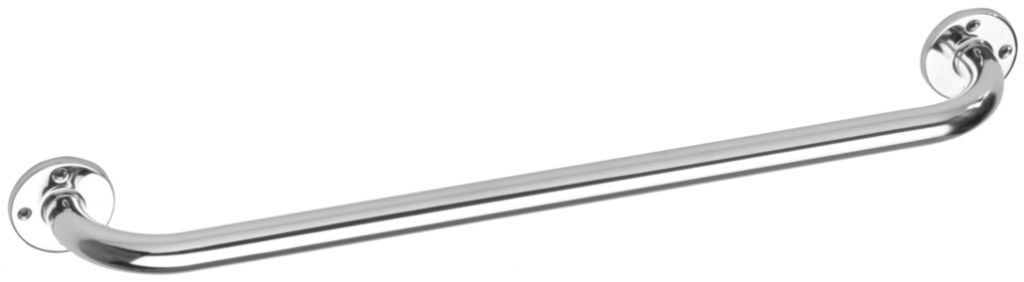 Barre d'appui tube ø 25 mm - rosaces 65 mm