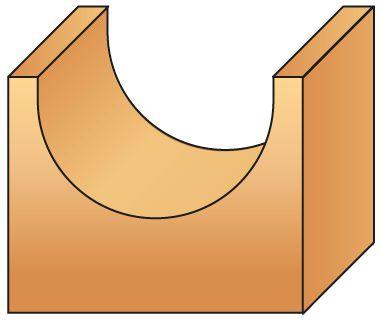 Mèche carbure 2 coupes - profil à gorge