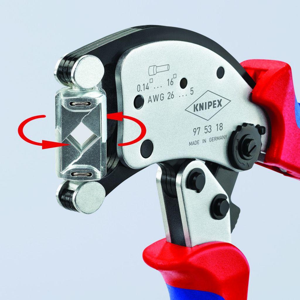 Pince auto-ajustable pour embouts de câble Twistor16 à sertir