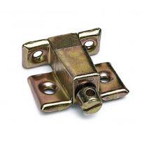 Ferrure d'assemblage - acier laitonné