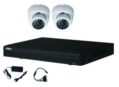 Kit vidéo HDCVI 2 dômes 2MP-1080P