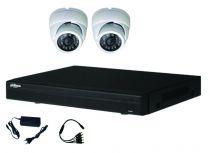 Kit vidéo HDCVI 2 dômes 2MP 1080P