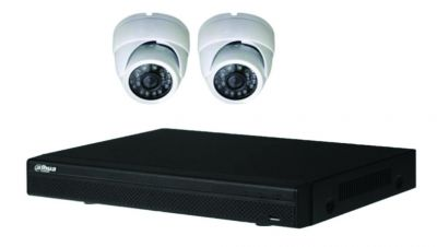 Kit vidéo IP 2 dômes POE 2MP-1080P