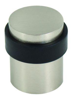 Butoir de porte pour fixation au sol - alu anodisé et caoutchouc cylindrique