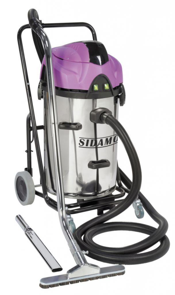 Aspirateurs industriels Sidamo Jet 60 DR - eau et poussières cuve inox