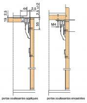 Ferrure de porte pliante multifold 30W