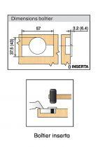 Porte applique épaisse - ouverture 95°