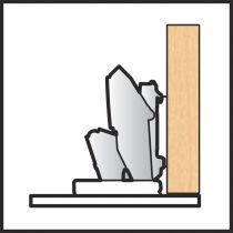 Blum - charnière invisible - EXPANDO T - porte mince - nickelé